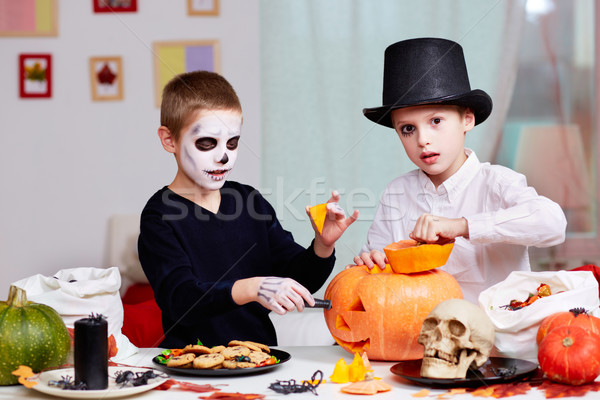 Halloween preparations Stock photo © pressmaster