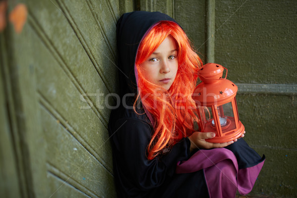 Child in Halloween attire Stock photo © pressmaster