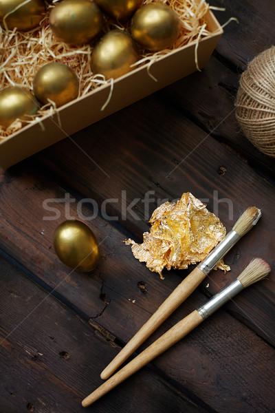 Eggs and brushes Stock photo © pressmaster
