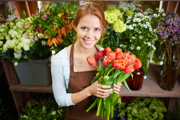 Pretty florist Stock photo © pressmaster