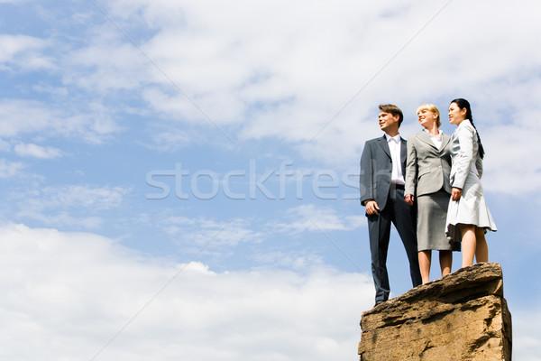 üzleti csoport emberek áll domb néz üzlet Stock fotó © pressmaster