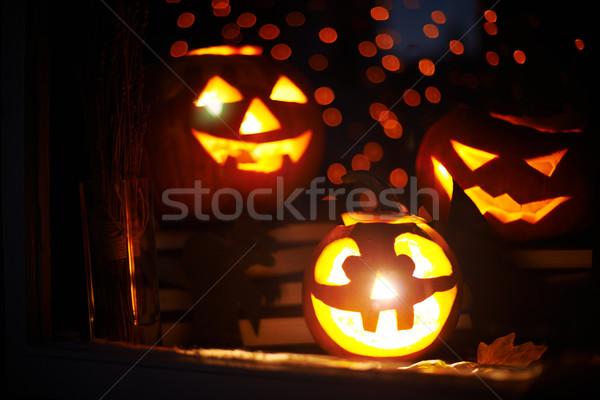 Halloween gourds Stock photo © pressmaster