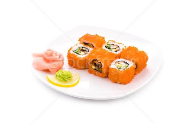 Foto d'archivio: California · maki · immagine · sushi · rosso