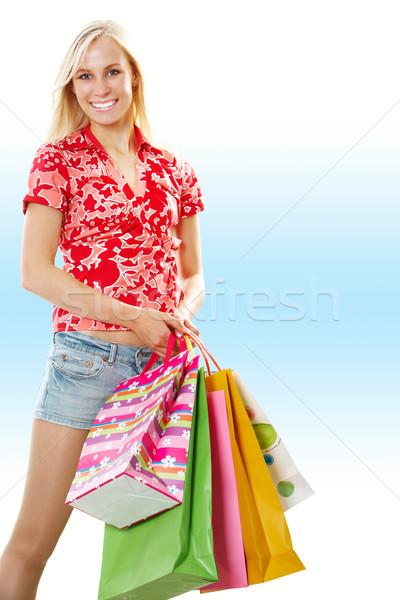 Shopping girl Stock photo © pressmaster