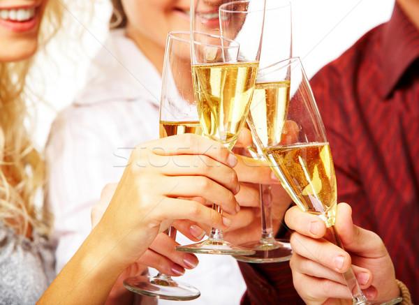Stok fotoğraf: Fotoğraf · şampanya · gözlük · tost · parti