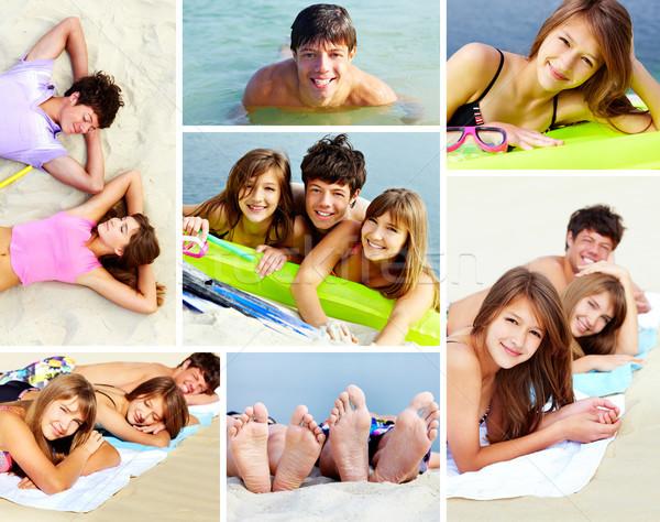 Friends on the seaside Stock photo © pressmaster