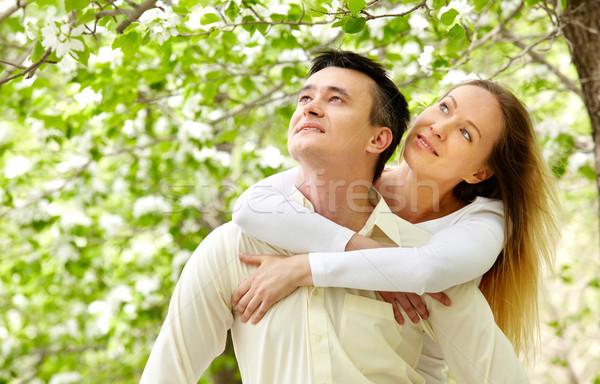 Szerelmi pár portré boldog néz nő Stock fotó © pressmaster