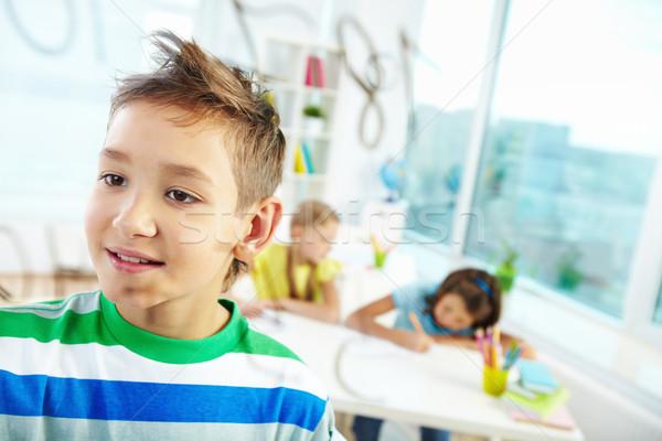 математика портрет красивый лице образование мальчика Сток-фото © pressmaster