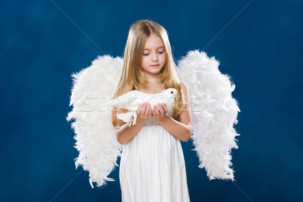 Angel with dove Stock photo © pressmaster