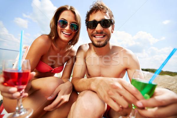 Refreshment on hot day Stock photo © pressmaster