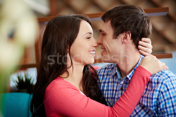 Attraction portrait amoureuse regarder une Photo stock © pressmaster