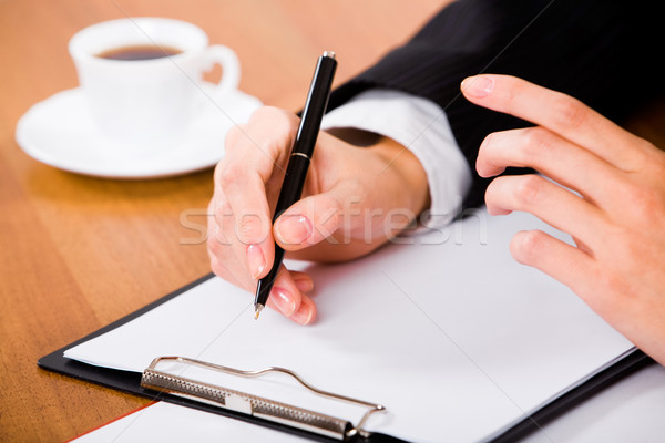 Before writing a contract Stock photo © pressmaster