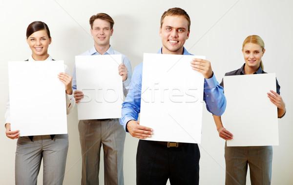 портрет молодые партнеры документы глядя Сток-фото © pressmaster