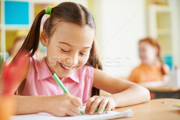 девушки урок портрет рисунок месте студент Сток-фото © pressmaster
