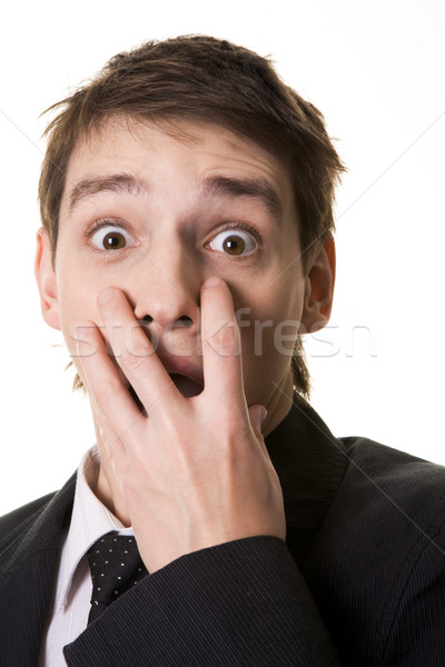 Frightened man Stock photo © pressmaster