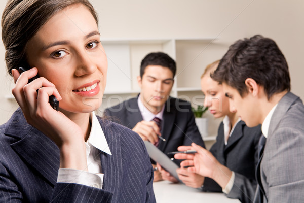Stockfoto: Business · oproep · foto · vrouwelijke · werknemer