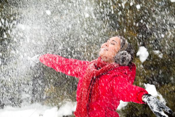 Snow delight Stock photo © pressmaster