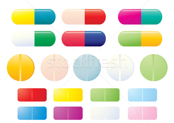 pills-icon-set         Stock photo © pressmaster