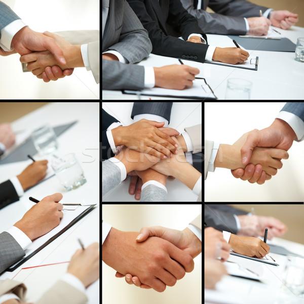 Stock fotó: Kezek · üzletemberek · kollázs · üzletemberek · különböző · üzlet