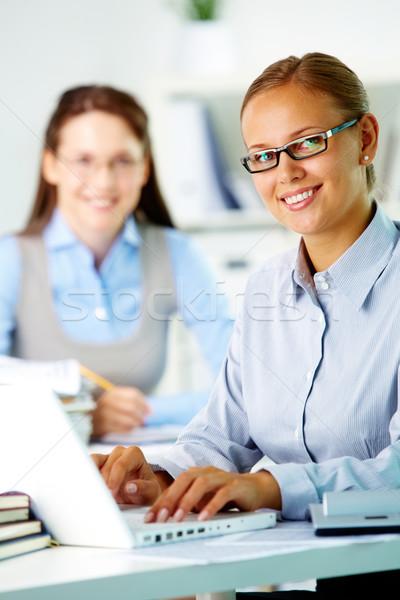 Stock photo: Happy secretary