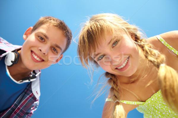Toothy smiles Stock photo © pressmaster