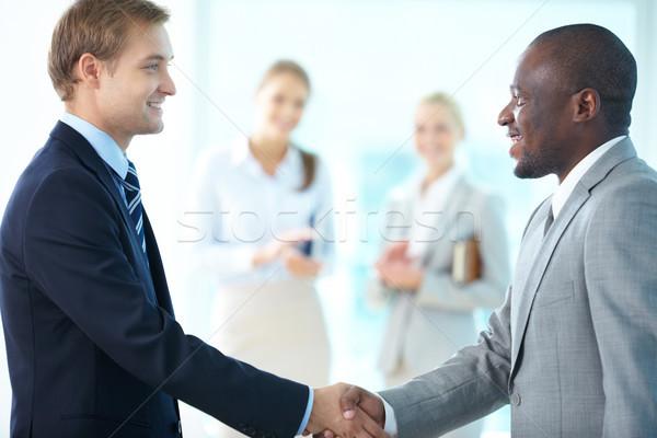 Stock photo: Businessmen handshaking