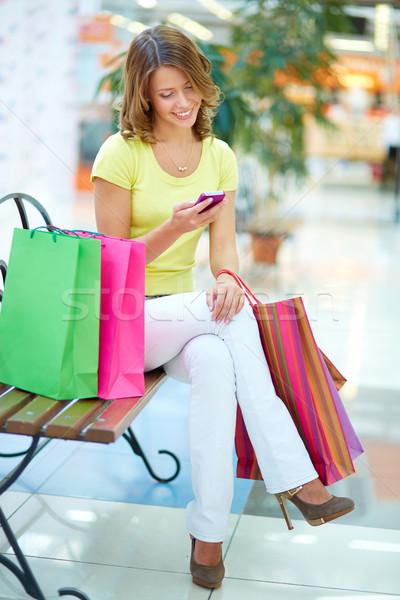 Elegant shopper Stock photo © pressmaster