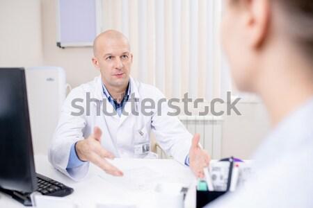 Presión arterial medición vertical imagen enfermera Foto stock © pressmaster
