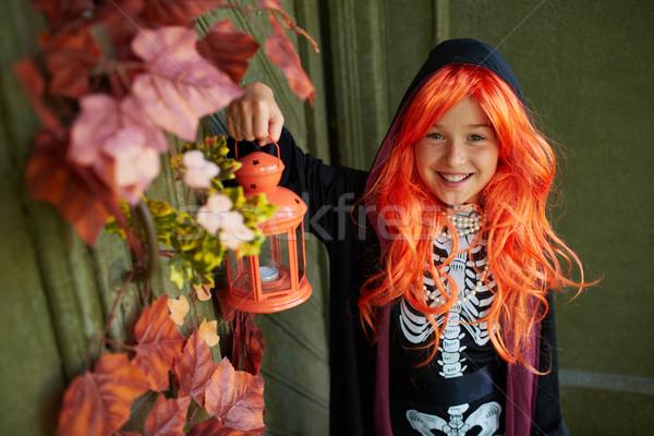 Girl with lantern Stock photo © pressmaster