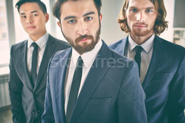 Sério empresário retrato barbudo colegas Foto stock © pressmaster