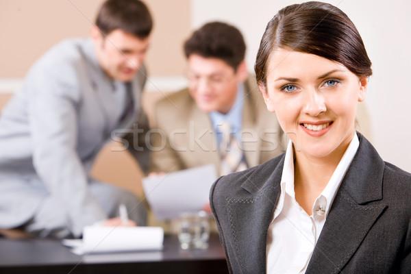 Stock fotó: Nő · portré · nő · bájos · mosoly · kettő · üzletemberek