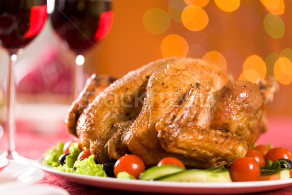 Pörkölt baromfi kép Törökország karácsony bor Stock fotó © pressmaster
