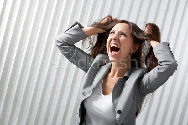 Problémák lehangolt üzletasszony sikít üzlet igazgató Stock fotó © pressmaster