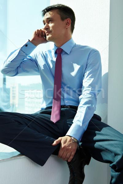 Meşgul adam portre yakışıklı adam çağrı cep telefonu Stok fotoğraf © pressmaster