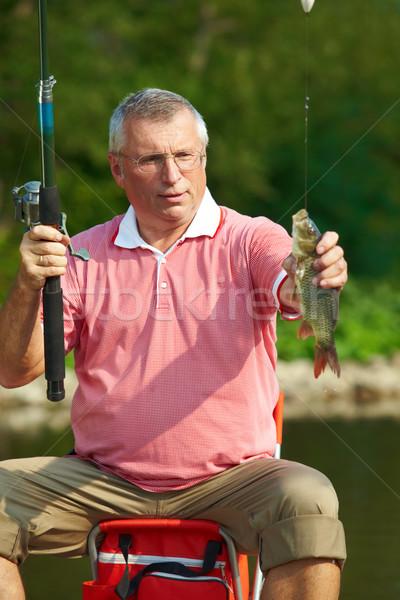 Visser foto senior man vis weekend Stockfoto © pressmaster