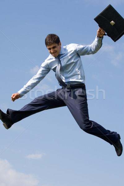 Réussi homme élégant affaires serviette main Photo stock © pressmaster