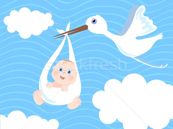Baby-announcement Stock photo © pressmaster