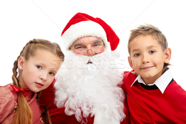Stock photo: Santa with kids