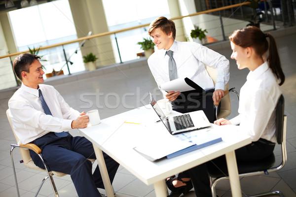 Chatting in office  Stock photo © pressmaster