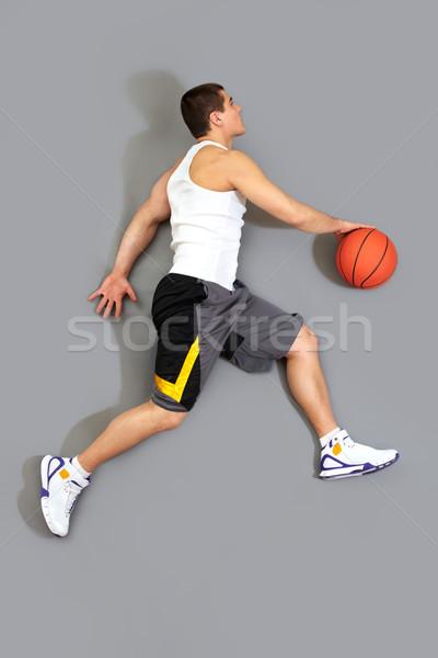 Fickó labda kész kosár fölött kilátás Stock fotó © pressmaster