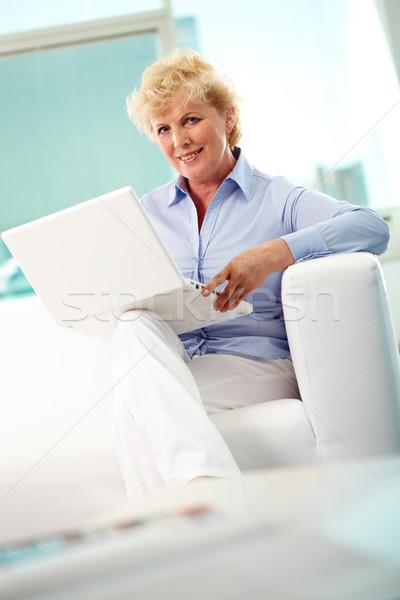 Typing woman Stock photo © pressmaster