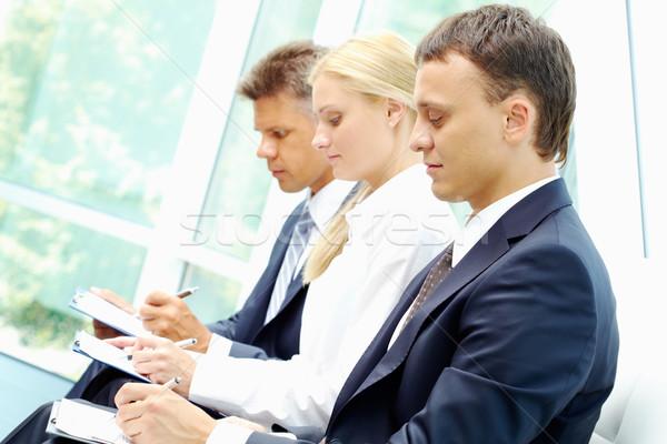 Conventie rij drie schrijven conferentie Stockfoto © pressmaster