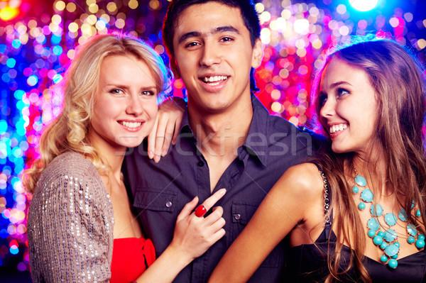 Girls and guy Stock photo © pressmaster