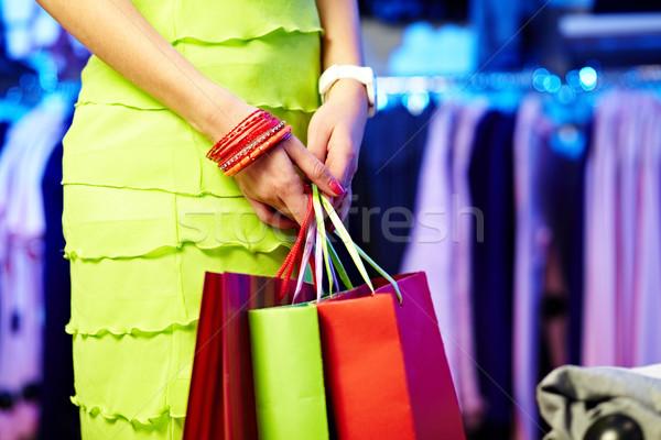 Stok fotoğraf: Alışveriş · görüntü · eller · üç · el