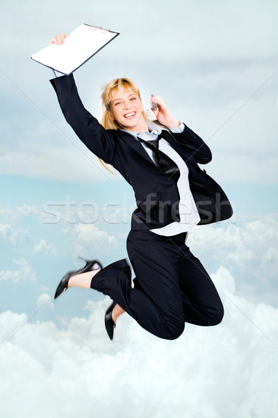 Joyful stewardess Stock photo © pressmaster
