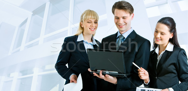 Three people working Stock photo © pressmaster