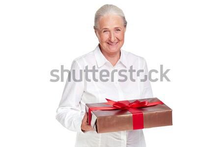 Feminino dom retrato idoso olhando câmera Foto stock © pressmaster