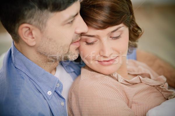 Spokój portret spokojny para kobieta Zdjęcia stock © pressmaster
