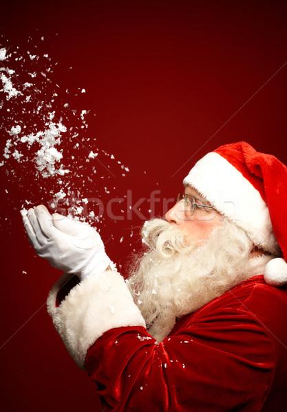 Navidad preguntarse foto papá noel nieve Foto stock © pressmaster
