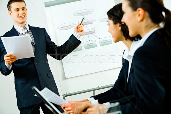 Stock photo: Business speech